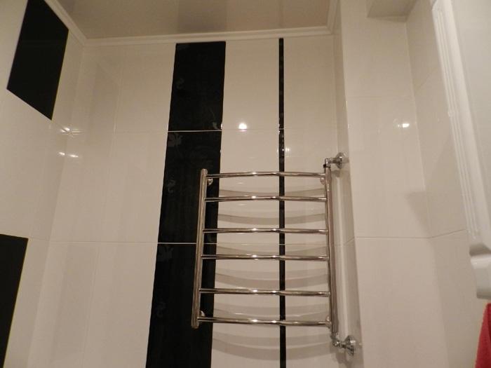 Расположение полотенцесушителя в ванной комнате