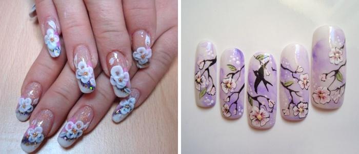 Рисуем бабочки на ногтях пошагово 1