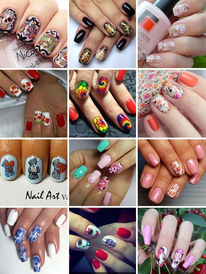 Примеры слайдер-дизайнов на ногтях