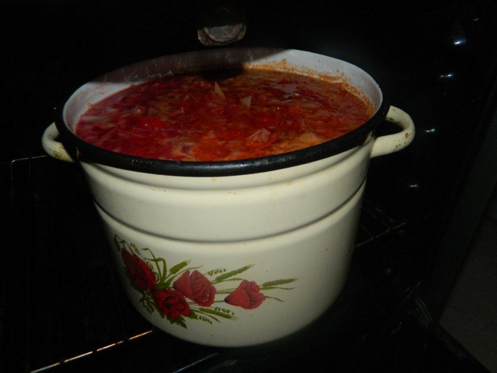 Рецепт красного борща со свеклой и капустой