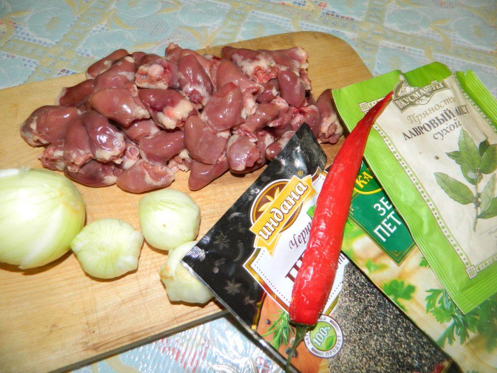 Ингредиенты для куриного гуляша