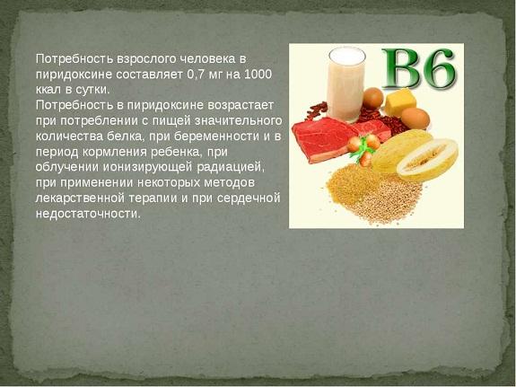Дозировка витамина B6